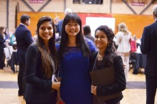 A record 145 students met with 95 professionals at the most recent Speed Networking event on campus.