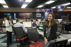 Working as an evening news intern at WGN-TV in Chicago helped Jennifer Aguirre '15 understand the role of a news producer.
