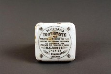 This toothpaste tin is one of many architectural details and artifacts found on the grounds of the Charnley-Persky home.