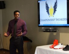 Kente Mixon explains his Championship Sneakers business plan.