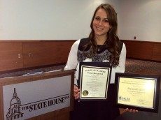 Danielle Gore '12 is recognized as one of the outstanding beginning teachers in Illinois.