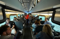 New students take a short train ride to Chicago for Chicago Day.
