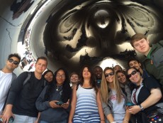 "Robots gave the First-Year Studies ""Robots and Brains: Fantasies and Facts"" class a new view of The Bean in Chic..."