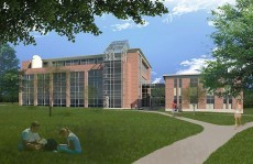 Rendition of Johnson Science Center expansion.