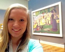 Molly Gottfreid '16 is interning at The Art Institute of Chicago, which draws 1.5 million visitors a year.
