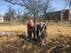 Environmental Studies students got lucky and found $20 while raking out the Middle Campus restoration project in preparati...