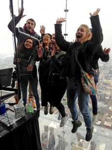Thirteen first-year students and their Forester Guides enjoy the customizable Chicago Ambassador trip they won during