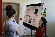 Rebecca Rabizadeh '20 presented on her research.