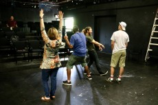 Students get moving in the Improvisation Techniques summer course at Lake Forest College.