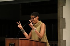 Author and playwright Lydia Diamond talked about brain, race, and theater during Brain Awareness Week.