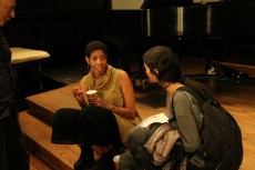 Author and playwright Lydia Diamond took the time to speak with students after her talk on November 8.