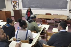 Judy Dozier teaching an African American studies course