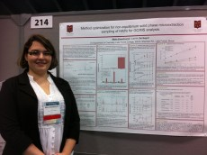 Maria Zawadowicz `12 presents her poster at the American Geographical Union Fall Meeting in San Francisco this past December.