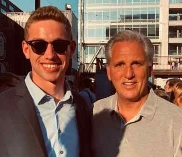 Wheeler '21 with House Minority Leader Kevin McCarthy.