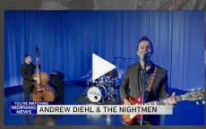 Andrew Diehl '08 and his band performed on the WGN-TV Morning News.