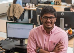 Nipun Chauhan '18 is working in a summer internship in downtown Chicago.