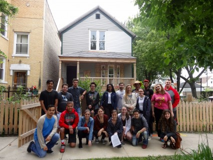 "<div class="""">The class that toured Walt Disney's Chicago birthplace includes: Trevor Bain '18, Nicholas Behrens '17, Stephanie DeLeon '17, Lex Dellaportas '19, Marquise Douglas '19, Alejandro Espinoza '18, Mary Lee '19, John Losurdo '18, Ben Ludgin '18, Gillian McSpiritt, Jay Nimoy, David Rodriguez, Alia Shipman</div> <div class="""">Lucia Stumbras</div> <div class="""">Allie Widmer</div> <div class="""">Allison Winter</div>"