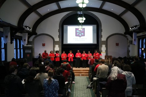 Glenn Johnson and the Voices of Innerpeace sang during the Annual Martin Luther King Jr. Holiday Program.