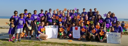 Students and faculty members attend The Walk to End Alzheimer's