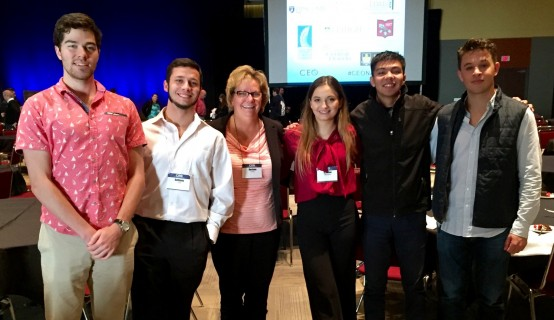 Assistant Professor Darlene Jaffke and five entrepreneurship and innovation students attended the 2015 College Entrepreneurs Organization national conference.